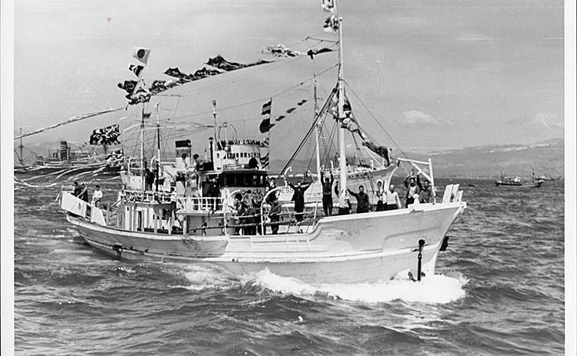 出漁する独航船